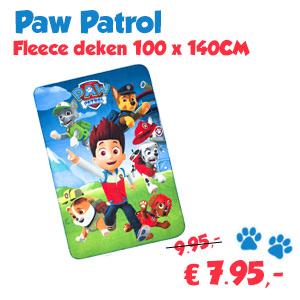 Paw Patrol fleece deken