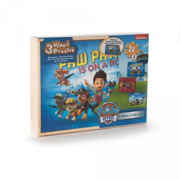 Paw patrol 3 houten puzzels
