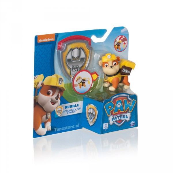Paw Patrol Pup met Rubble badge