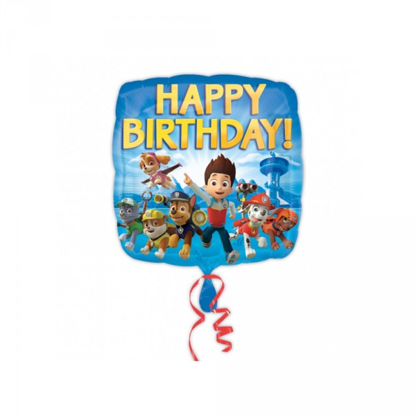 Paw Patrol folieballon happy birthday
