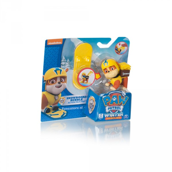 Paw Patrol Winter speelfiguur Rubble