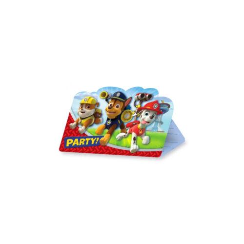 Paw Patrol uitnodigingen - verjaardagskaartjes