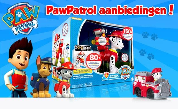 Paw Patrol aanbiedingen speelgoed